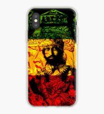 Vinilo o funda para iPhone Rasta Haile Selassie Natural Místico León de Judá
