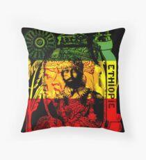 Rasta Haile Selassie natürlicher mystischer Löwe von Juda Kissen