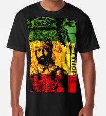 Rasta Haile Selassie natürlicher mystischer Löwe von Juda Longshirt