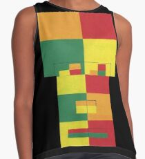 Square Fro (Facemadics abstract face colorful contemporary) Sleeveless Top