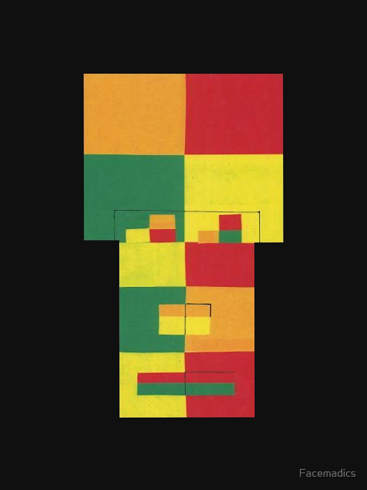 Square Fro (Facemadics abstract face colorful contemporary) by Facemadics