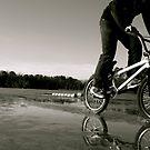 Biking on the lake by Brett Yoncak