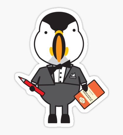 Pierre the Proofraeder Puffin Sticker