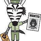 Zeke the Zoo Keeper Zebra by samedog