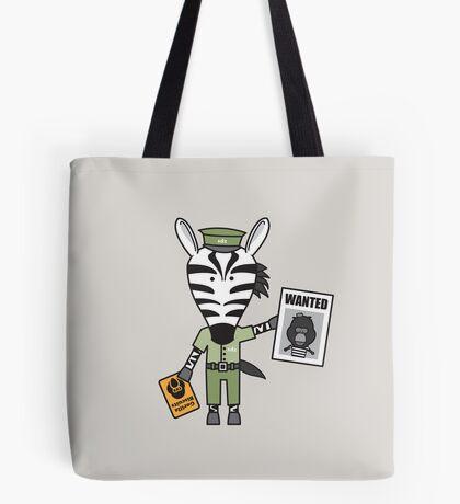 Zeke the Zoo Keeper Zebra Tote Bag