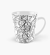 Call Me By Your Name Elios Shirt Faces in Black Outlines on White CMBYN Tall Mug