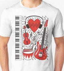 Musical heart Unisex T-Shirt