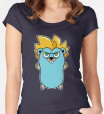 Super Gopher - Golang Women's Fitted Scoop T-Shirt