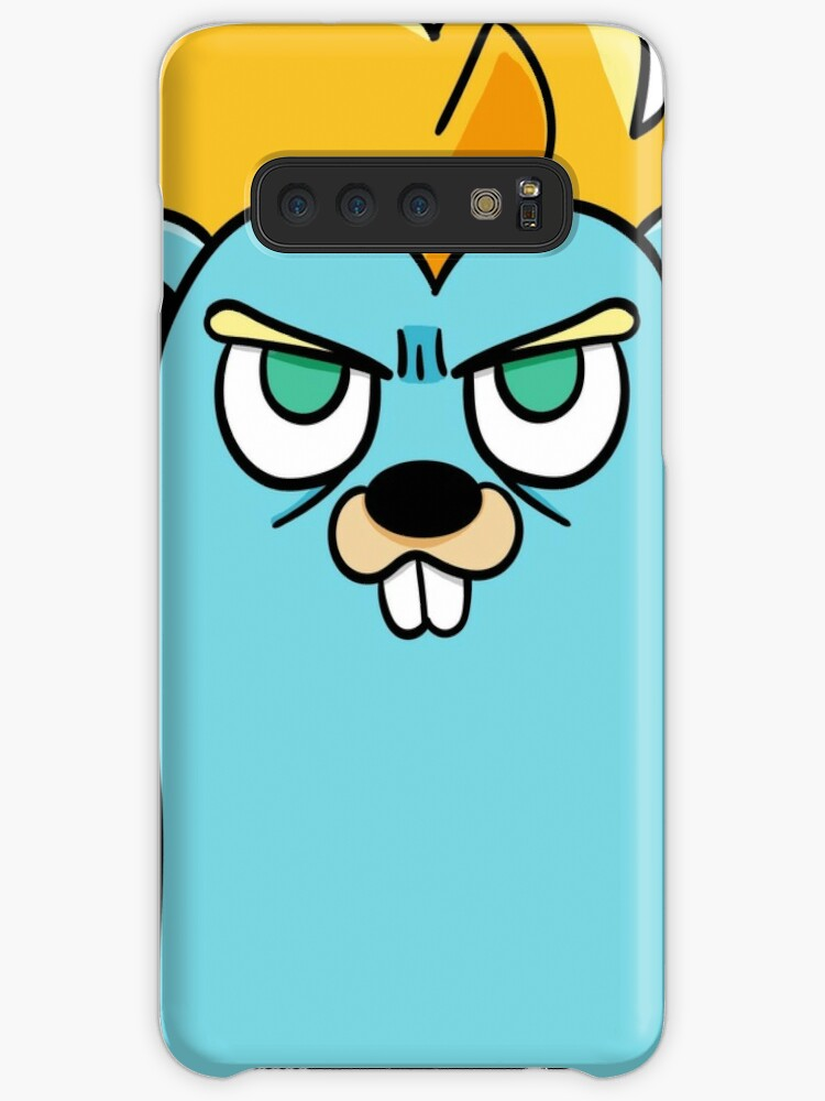 'Super Gopher - Golang' Case/Skin for Samsung Galaxy by maestromakhan