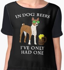 Basenji I've Only Had One In Dog Beers Year of the Dog Irish St Patrick Day Chiffon Top