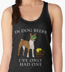 Basenji I've Only Had One In Dog Beers Year of the Dog Irish St Patrick Day Women's Tank Top