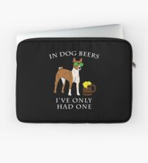 Basenji I've Only Had One In Dog Beers Year of the Dog Irish St Patrick Day Laptop Sleeve