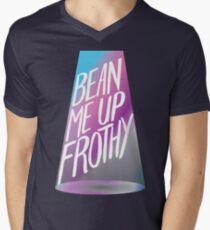 Bean Me Up Frothy Men's V-Neck T-Shirt