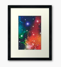 Retro Futurism Hipster Space Design Framed Print