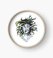 Medusa Greek Mythology Art Design Clock
