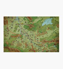 Southern Peloria Map by Darya Makarava Photographic Print