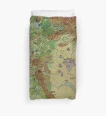 Dragon Pass and Prax Map by Darya Makarava Duvet Cover