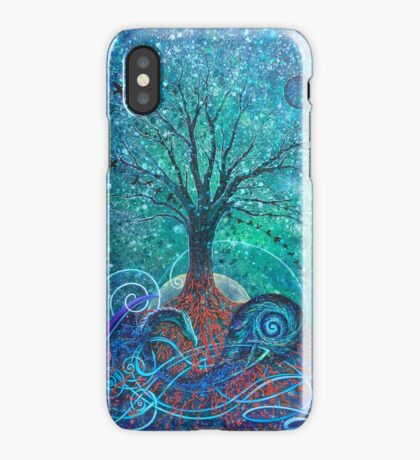 Tree of Life, Dark Moon. iPhone Case