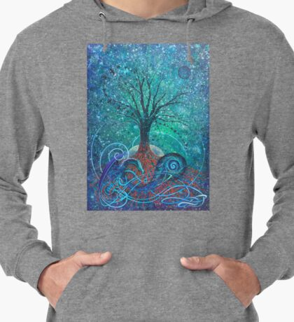 Tree of Life, Dark Moon. Lightweight Hoodie