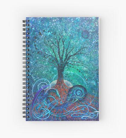 Tree of Life, Dark Moon. Spiral Notebook