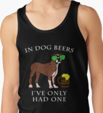 Boxer I've Only Had One In Dog Beers Year of the Dog Irish St Patrick Day Men's Tank Top