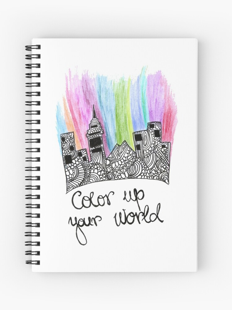 color up your world artist quotes art design spiral notebook by