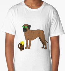 Bullmastiff I've Only Had One In Dog Beers Year of the Dog Irish St Patrick Day Long T-Shirt