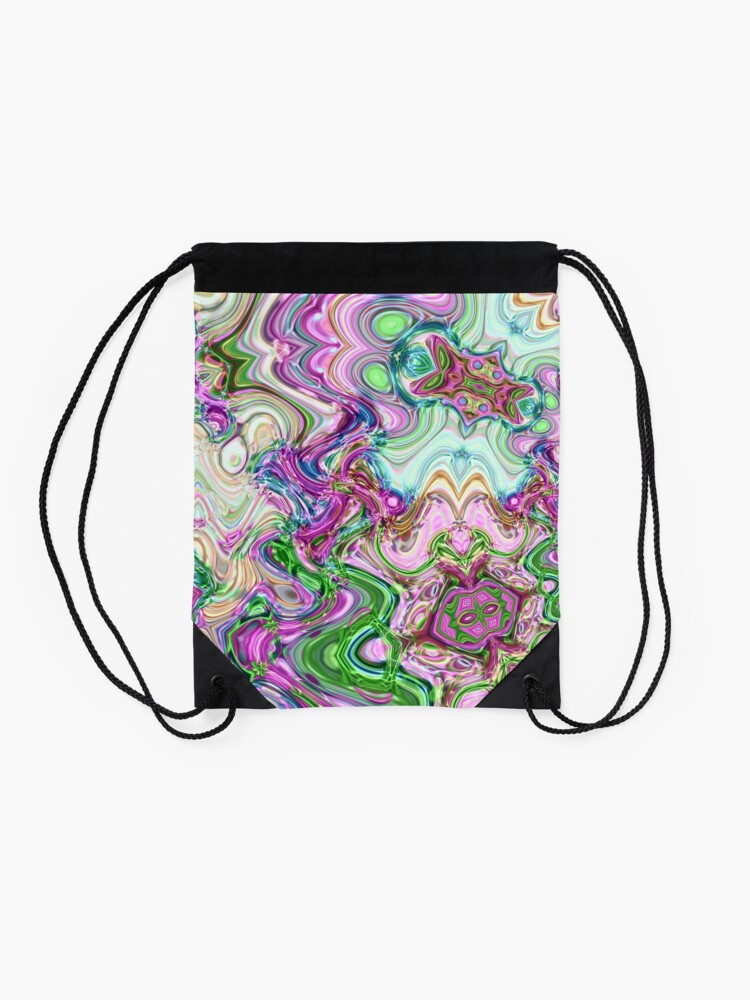 Alternate view of Transcendental Abstracts Drawstring Bag