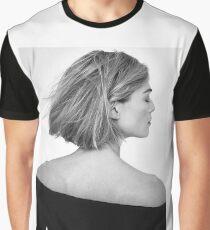 Rosamund Pike - Black and White Graphic T-Shirt