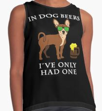 Chihuahua I've Only Had One In Dog Beers Year of the Dog Irish St Patrick Day Contrast Tank
