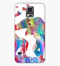 Elefant, Elefantenfamilie, Mutter und Baby Elefant Hülle & Klebefolie für Samsung Galaxy