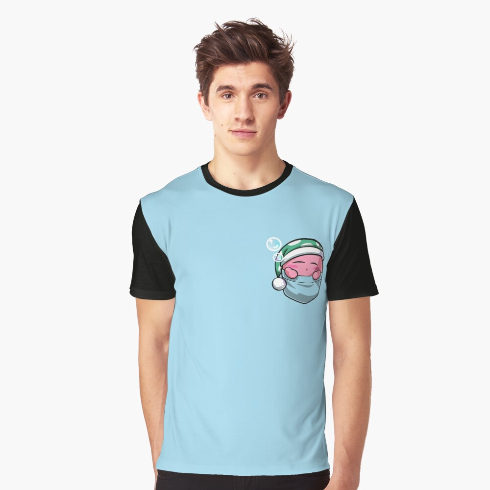 Pocket Kirby  Graphic T-Shirt Front