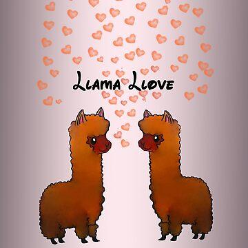Llama Llove by wickedhart13