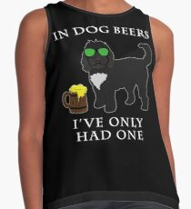 Cockapoo Ive Only Had One In Dog Beers Year of the Dog Irish St Patrick Day Contrast Tank