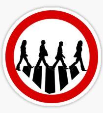 Rock Band Crosswalk   Traffic Sign Sticker