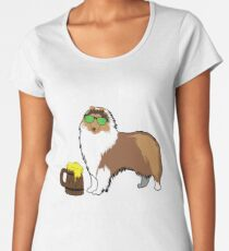 Collie Ive Only Had One In Dog Beers Year of the Dog Irish St Patrick Day Women's Premium T-Shirt