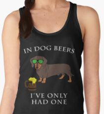 Dachshund Ive Only Had One In Dog Beers Year of the Dog Irish St Patrick Day Women's Tank Top