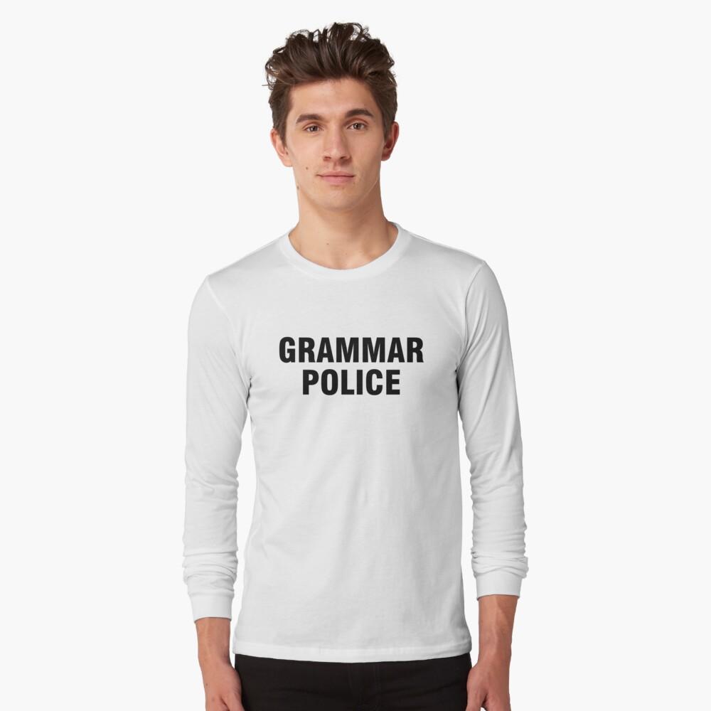 La policía gramática Camiseta de manga larga