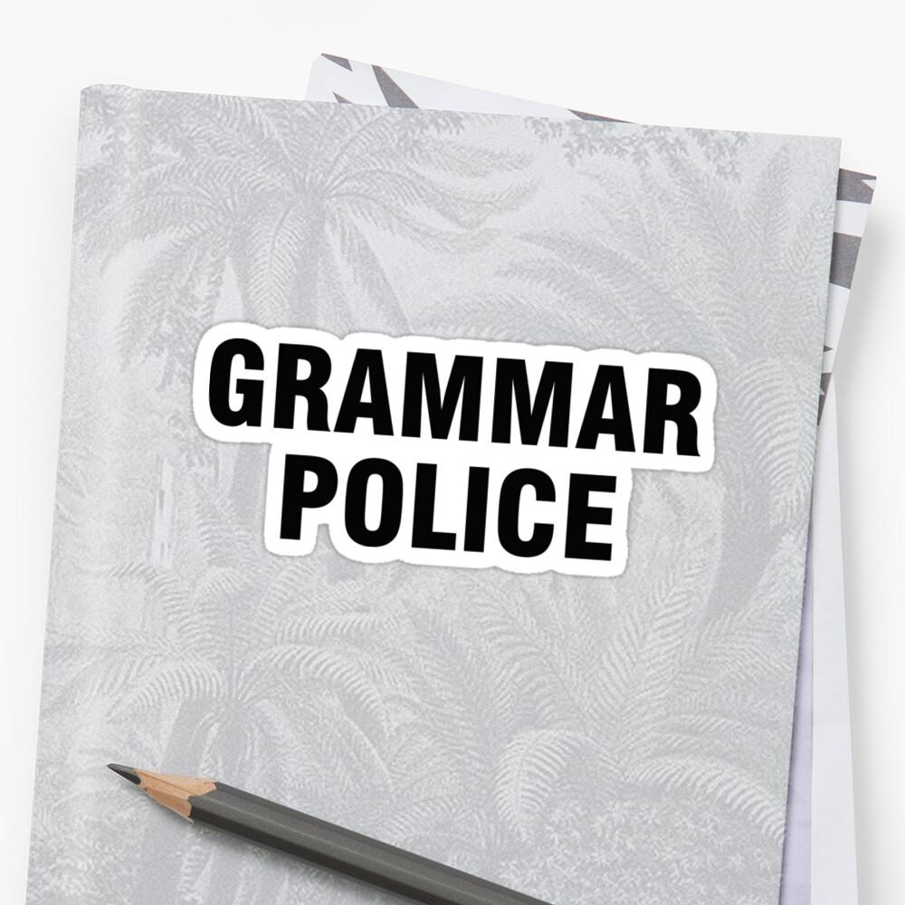 La policía gramática Pegatina