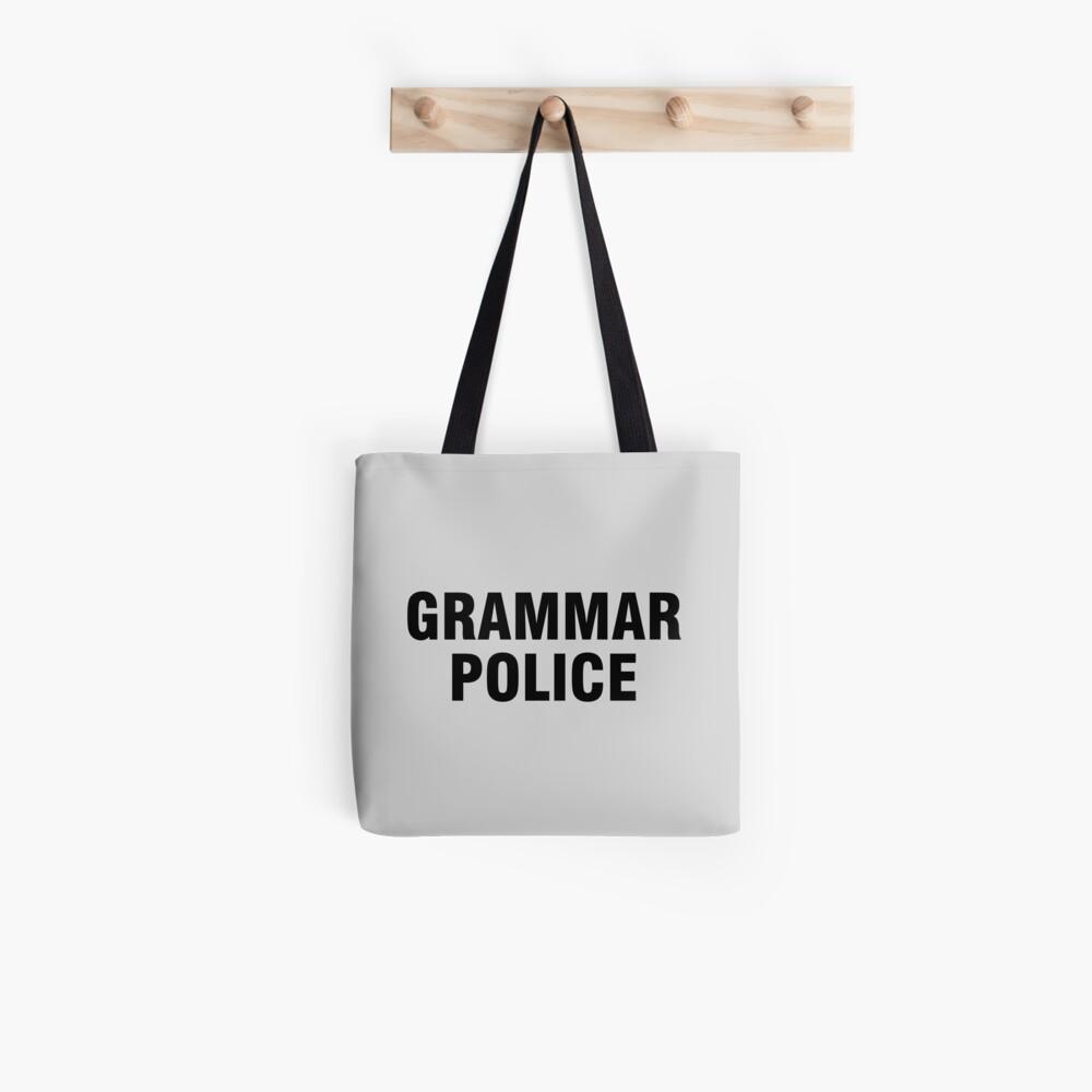 La policía gramática Bolsa de tela