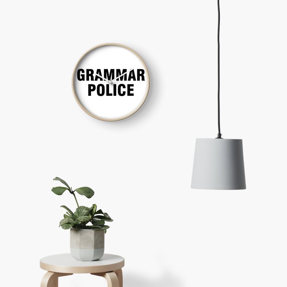 La policía gramática Reloj