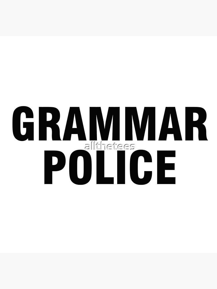 La policía gramática de allthetees