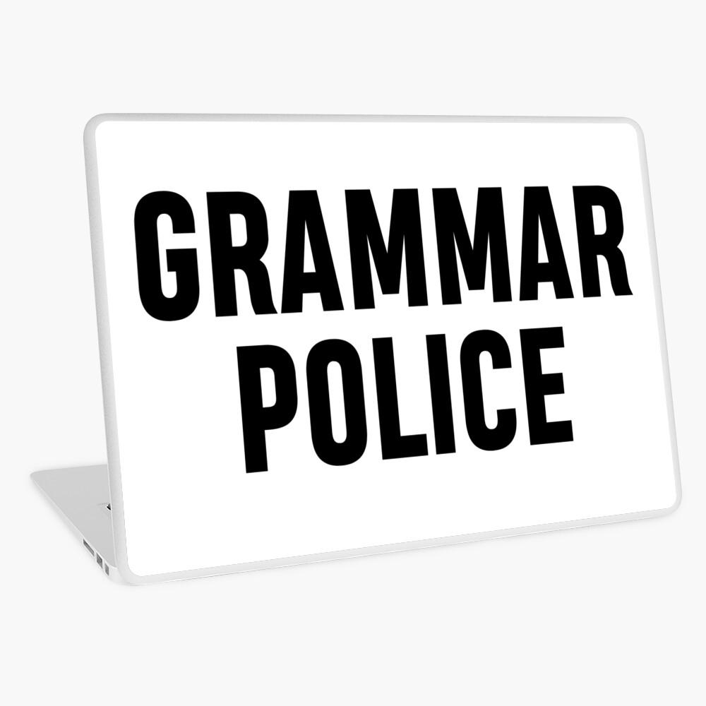 La policía gramática Vinilo para portátil