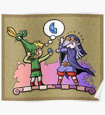 Zelda Vaati and Link  Poster