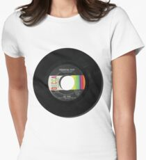 Music Record Vintage Women's Fitted T-Shirt