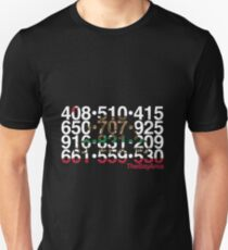 Bay Area Codes Unisex T-Shirt