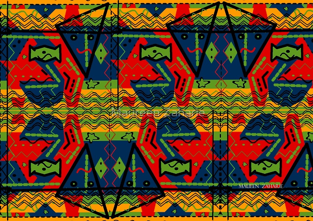 ABSTRACT TEXTILE PATTERN  by Maureen Zaharie