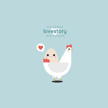 Egg& Chicken lovestory by harugraphic