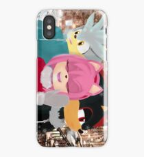 Silver, Amy and Shadow in the cold weather iPhone Case/Skin