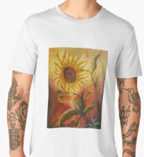 Exotic colorful sunflower abstract composition Men's Premium T-Shirt